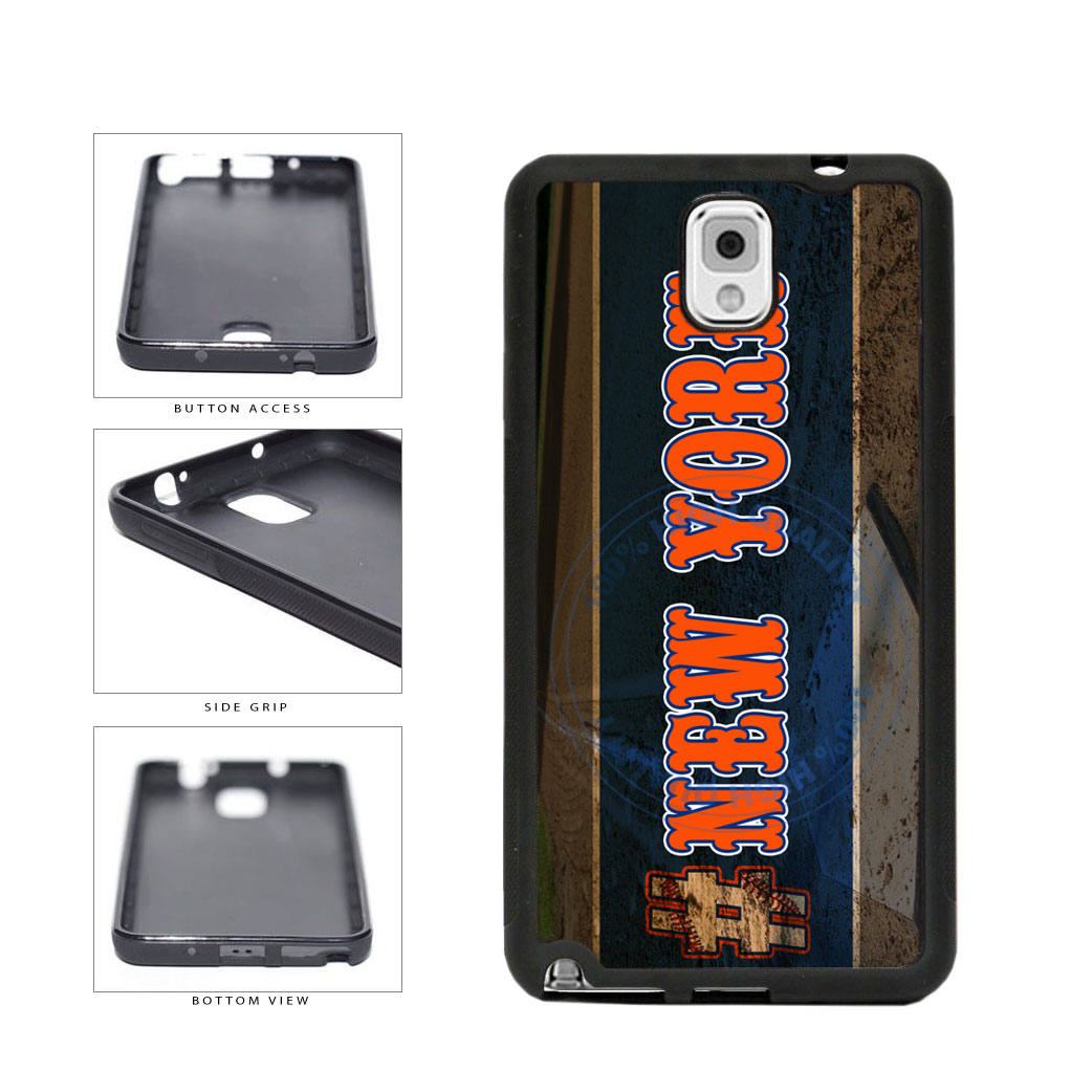Hashtag New York #NewYork Orange Baseball Team  TPU Rubber SILICONE Phone Case Back Cover For Samsung Galaxy Note III 3 N9002 includes BleuReign(TM) Cloth and Warranty Label
