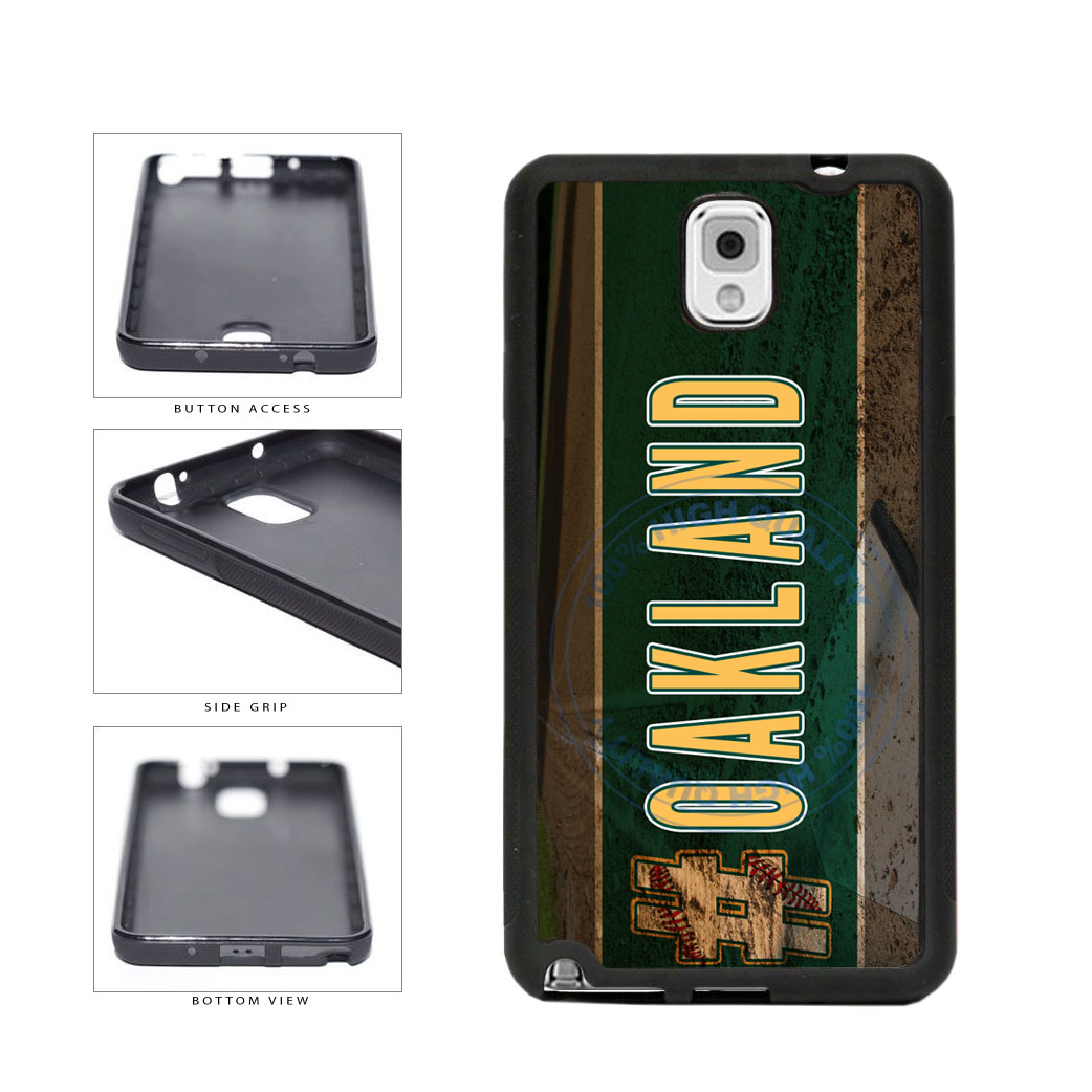 Hashtag Oakland #Oakland Baseball Team  TPU Rubber SILICONE Phone Case Back Cover For Samsung Galaxy Note III 3 N9002 includes BleuReign(TM) Cloth and Warranty Label
