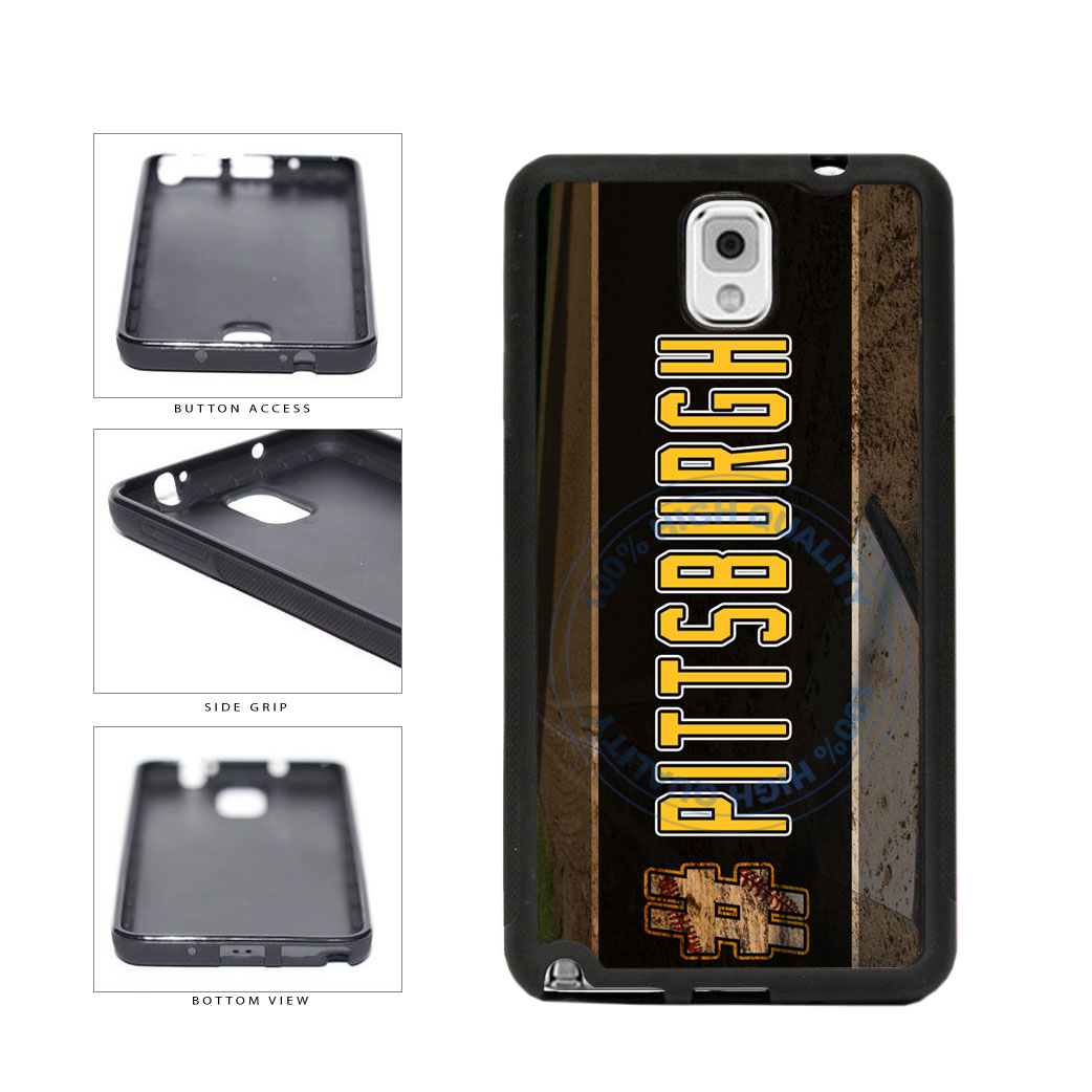 Hashtag Pittsburgh #Pittsburgh Baseball Team  TPU Rubber SILICONE Phone Case Back Cover For Samsung Galaxy Note III 3 N9002 includes BleuReign(TM) Cloth and Warranty Label