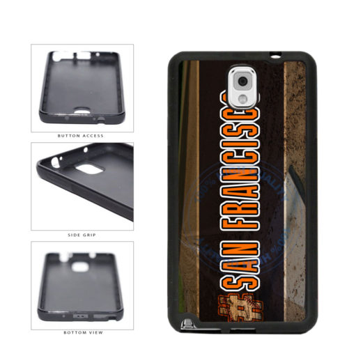 Hashtag San Francisco #SanFrancisco Baseball Team  TPU Rubber SILICONE Phone Case Back Cover For Samsung Galaxy Note III 3 N9002 includes BleuReign(TM) Cloth and Warranty Label