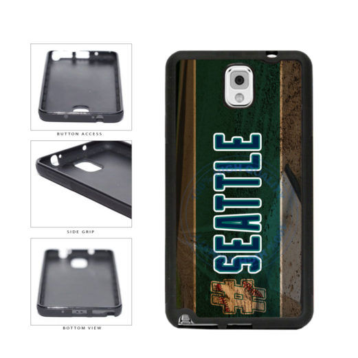 Hashtag Seattle #Seattle Baseball Team  TPU Rubber SILICONE Phone Case Back Cover For Samsung Galaxy Note III 3 N9002 includes BleuReign(TM) Cloth and Warranty Label