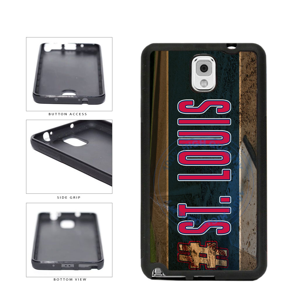 Hashtag St Louis #StLouis Baseball Team TPU Rubber SILICONE Phone Case Back Cover For Samsung Galaxy Note III 3 N9002 includes BleuReign(TM) Cloth and Warranty Label