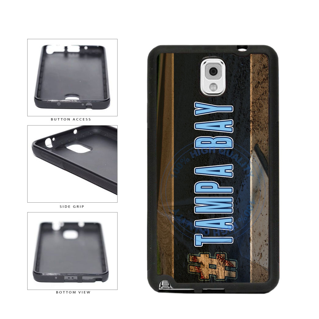Hashtag Tampa Bay #TampaBay Baseball Team  TPU Rubber SILICONE Phone Case Back Cover For Samsung Galaxy Note III 3 N9002 includes BleuReign(TM) Cloth and Warranty Label