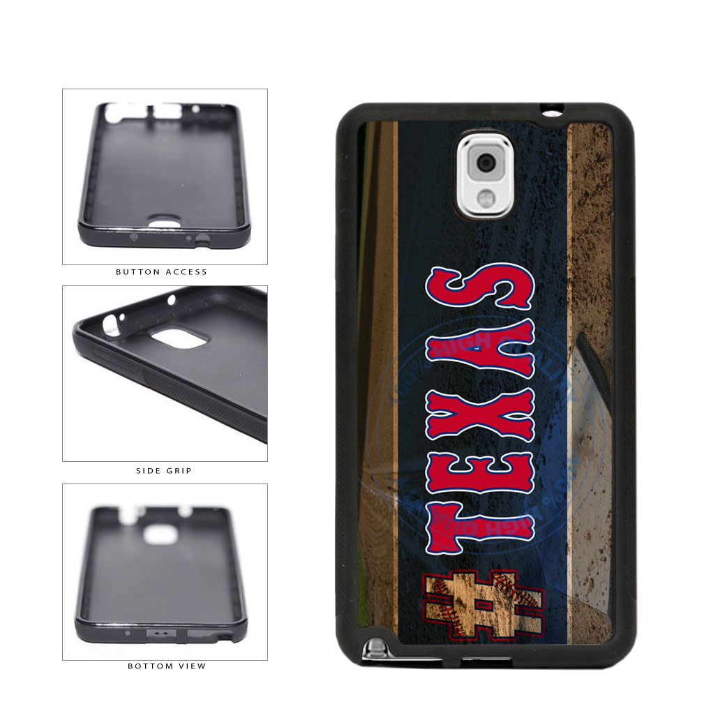 Hashtag Texas #Texas Baseball Team  TPU Rubber SILICONE Phone Case Back Cover For Samsung Galaxy Note III 3 N9002 includes BleuReign(TM) Cloth and Warranty Label