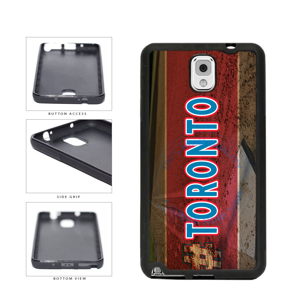 Hashtag Toronto #Toronot Baseball Team  TPU Rubber SILICONE Phone Case Back Cover For Samsung Galaxy Note III 3 N9002 includes BleuReign(TM) Cloth and Warranty Label