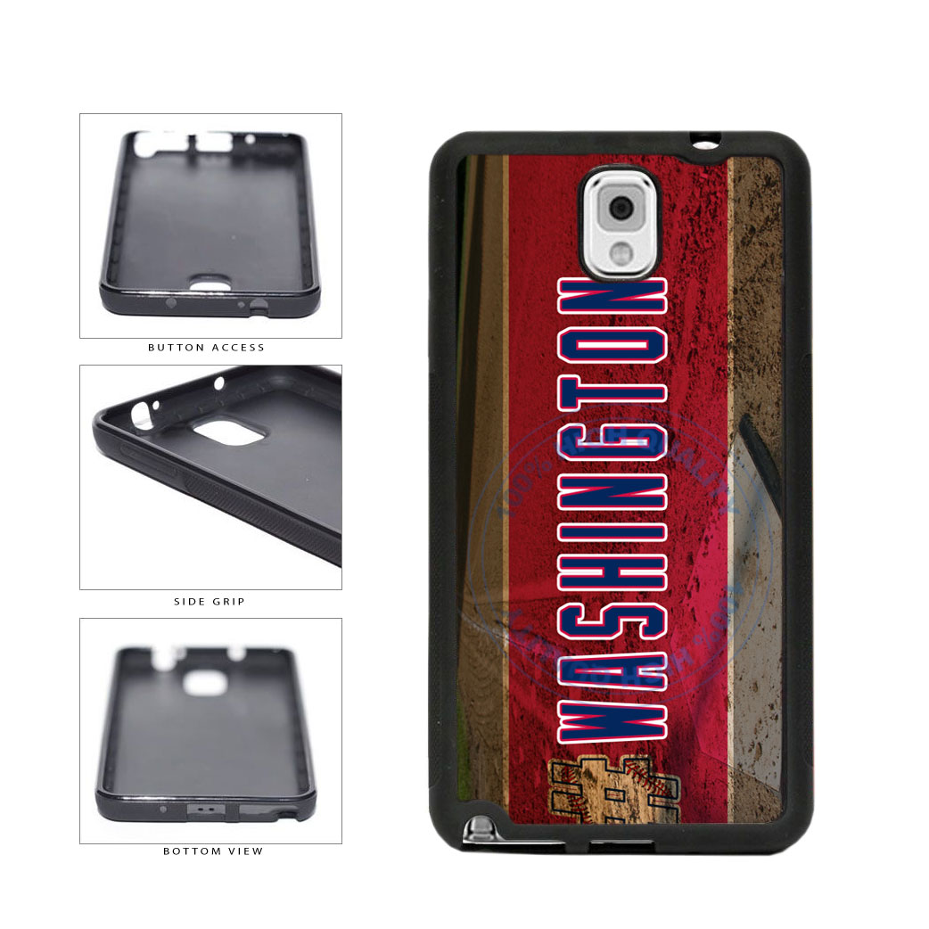 Hashtag Washington #Washington Baseball Team  TPU Rubber SILICONE Phone Case Back Cover For Samsung Galaxy Note III 3 N9002 includes BleuReign(TM) Cloth and Warranty Label