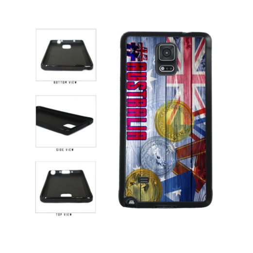 Sport Games Hashtag Team Australia #Australia TPU Rubber SILICONE Phone Case Back Cover For Samsung Galaxy Note IV 4 N910 includes BleuReign(TM) Cloth and Warranty Label