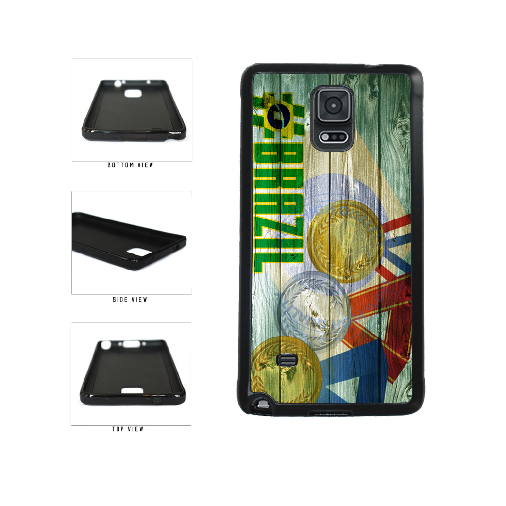 Sport Games Hashtag Team Brazil #Brazil TPU Rubber SILICONE Phone Case Back Cover For Samsung Galaxy Note IV 4 N910 includes BleuReign(TM) Cloth and Warranty Label