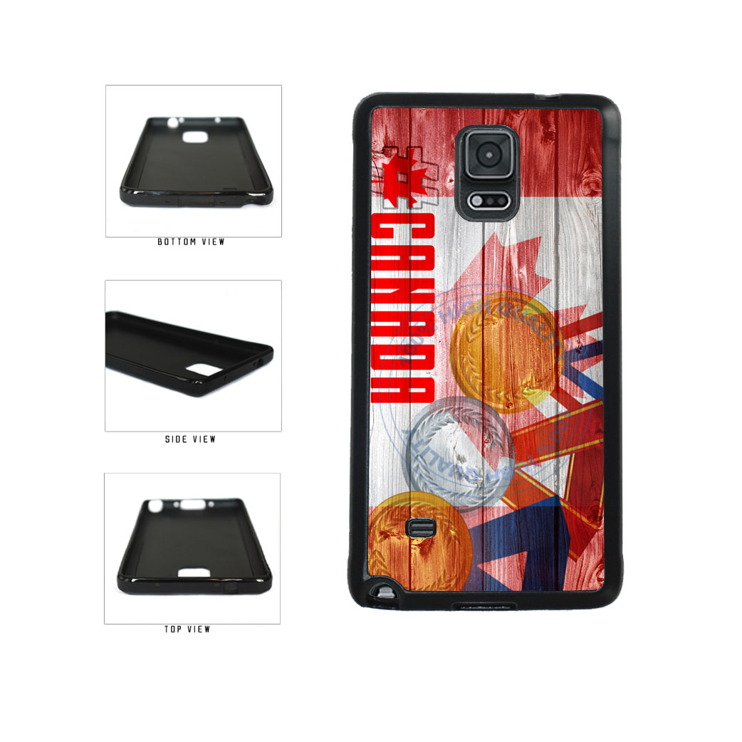 Sport Games Hashtag Team Canada #Canada TPU Rubber SILICONE Phone Case Back Cover For Samsung Galaxy Note IV 4 N910 includes BleuReign(TM) Cloth and Warranty Label