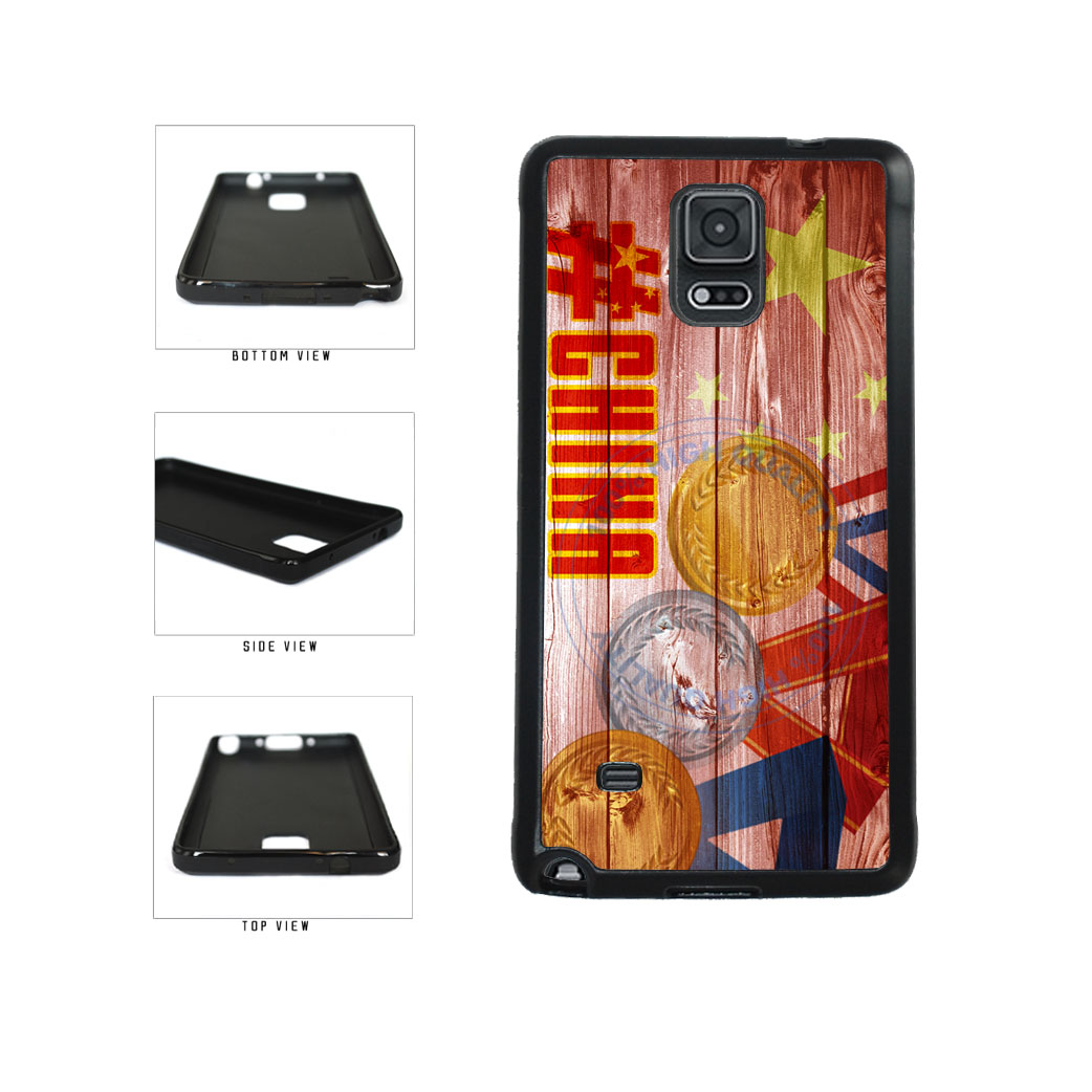 Sport Games Hashtag Team China #China TPU Rubber SILICONE Phone Case Back Cover For Samsung Galaxy Note IV 4 N910 includes BleuReign(TM) Cloth and Warranty Label