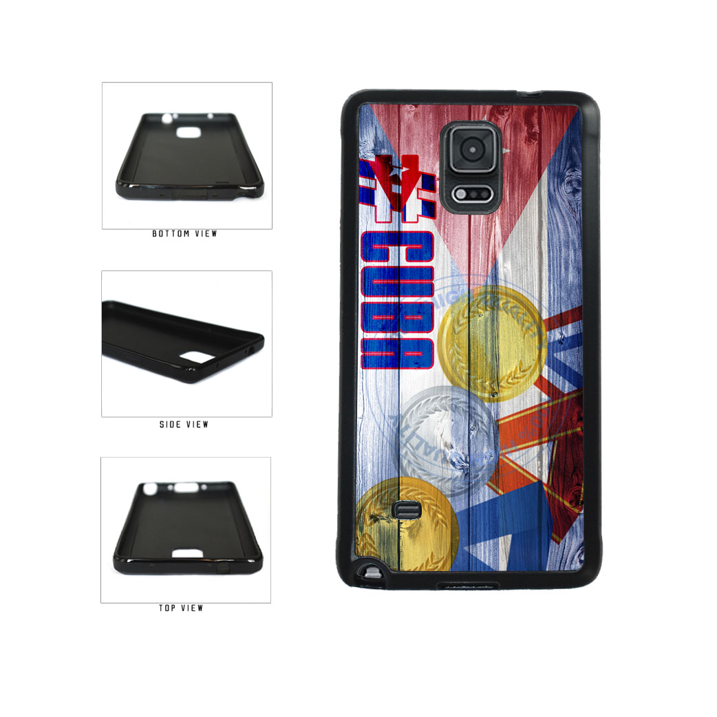 Sport Games Hashtag Team Cuba #Cuba TPU Rubber SILICONE Phone Case Back Cover For Samsung Galaxy Note IV 4 N910 includes BleuReign(TM) Cloth and Warranty Label