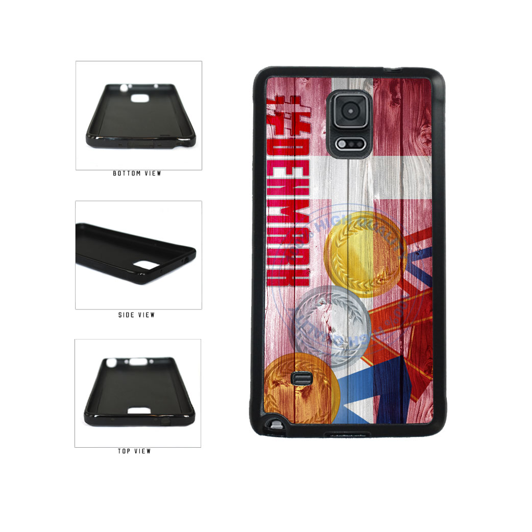 Sport Games Hashtag Team Denmark #Denmark TPU Rubber SILICONE Phone Case Back Cover For Samsung Galaxy Note IV 4 N910 includes BleuReign(TM) Cloth and Warranty Label