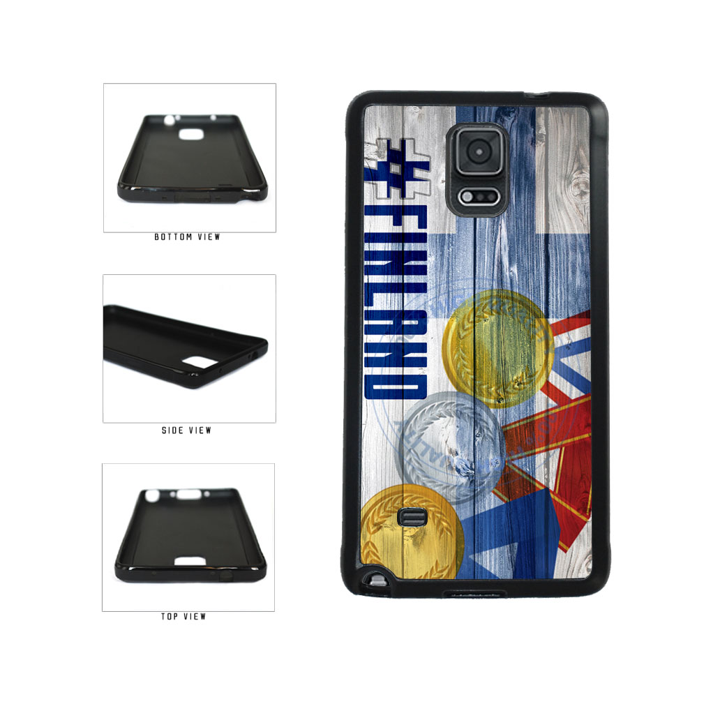 Sport Games Hashtag Team Finland #Finland TPU Rubber SILICONE Phone Case Back Cover For Samsung Galaxy Note IV 4 N910 includes BleuReign(TM) Cloth and Warranty Label