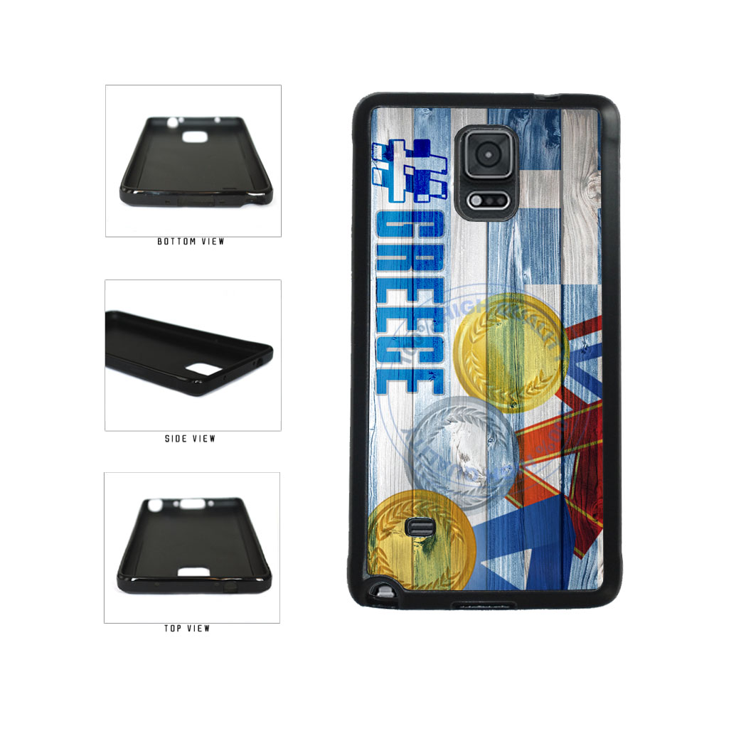 Sport Games Hashtag Team Greece #Greece TPU Rubber SILICONE Phone Case Back Cover For Samsung Galaxy Note IV 4 N910 includes BleuReign(TM) Cloth and Warranty Label