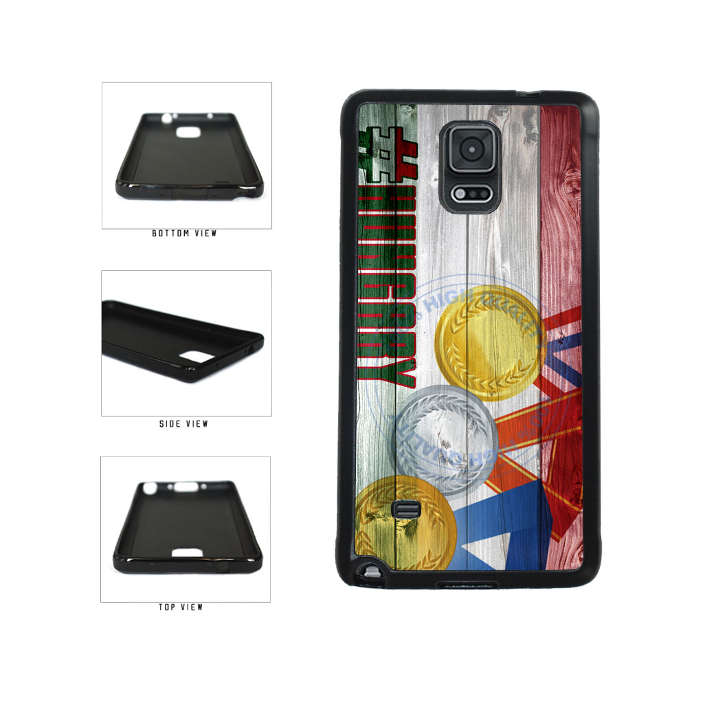 Sport Games Hashtag Team Hungary #Hungary TPU Rubber SILICONE Phone Case Back Cover For Samsung Galaxy Note IV 4 N910 includes BleuReign(TM) Cloth and Warranty Label
