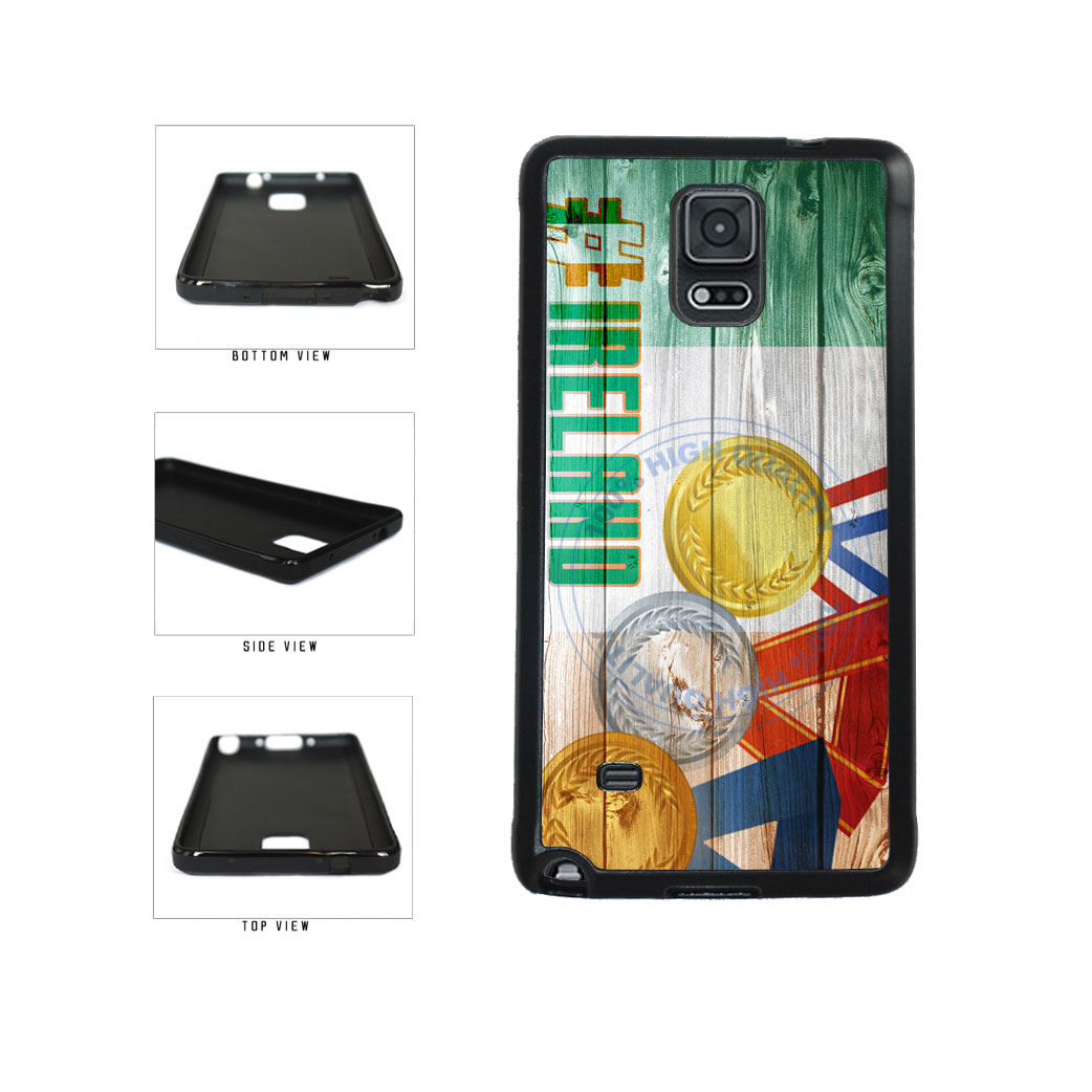Sport Games Hashtag Team Ireland #Ireland TPU Rubber SILICONE Phone Case Back Cover For Samsung Galaxy Note IV 4 N910 includes BleuReign(TM) Cloth and Warranty Label
