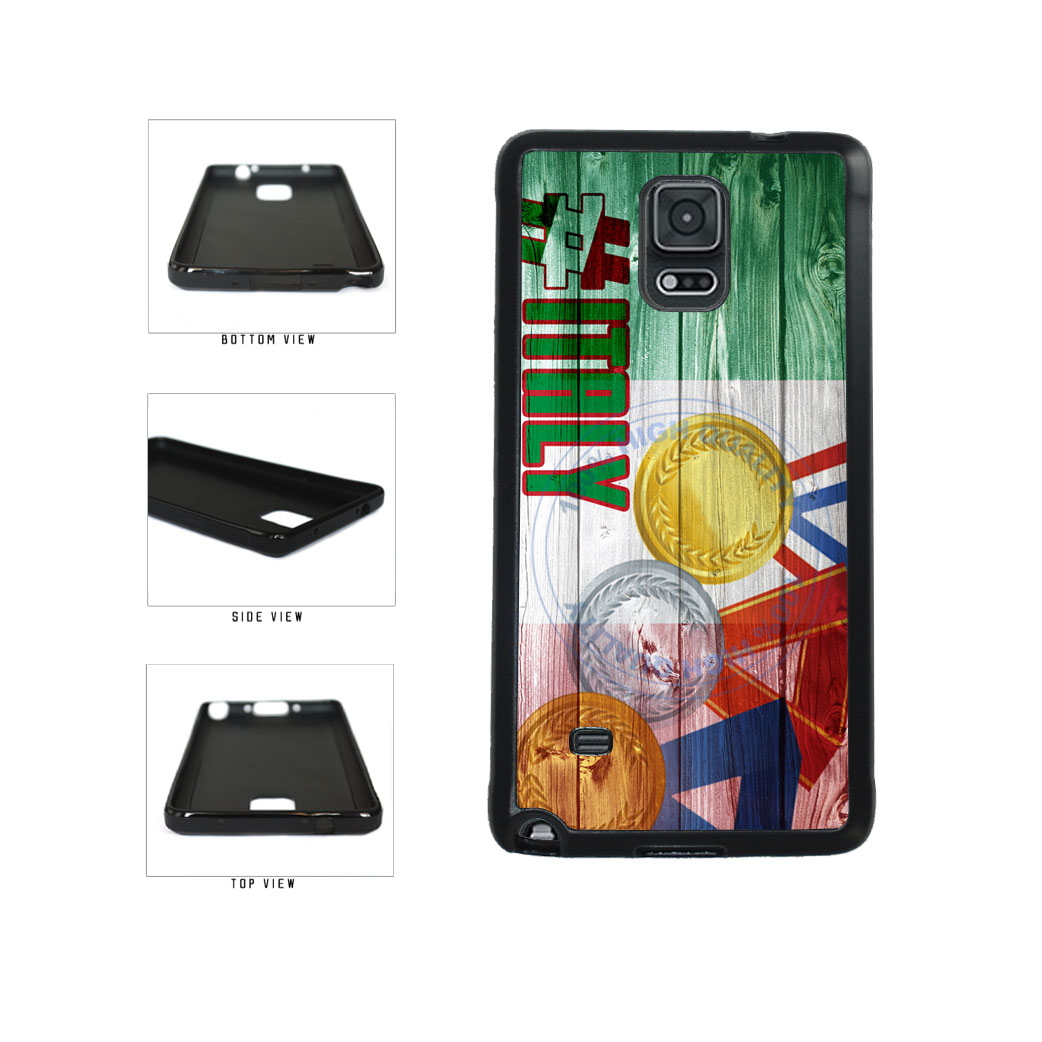 Sport Games Hashtag Team Italy #Italy TPU Rubber SILICONE Phone Case Back Cover For Samsung Galaxy Note IV 4 N910 includes BleuReign(TM) Cloth and Warranty Label