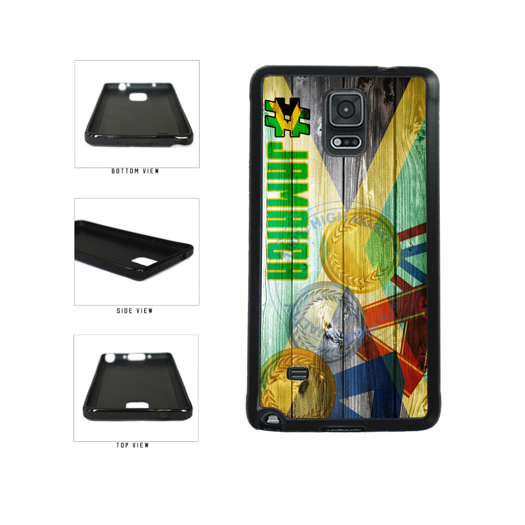 Sport Games Hashtag Team Jamaica #Jamacia TPU Rubber SILICONE Phone Case Back Cover For Samsung Galaxy Note IV 4 N910 includes BleuReign(TM) Cloth and Warranty Label