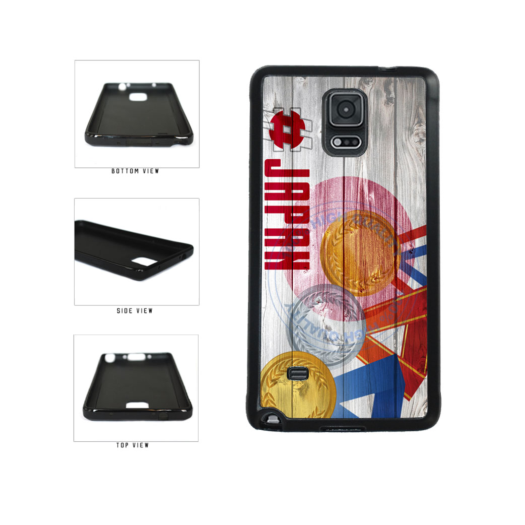 Sport Games Hashtag Team Japan #Japan TPU Rubber SILICONE Phone Case Back Cover For Samsung Galaxy Note IV 4 N910 includes BleuReign(TM) Cloth and Warranty Label