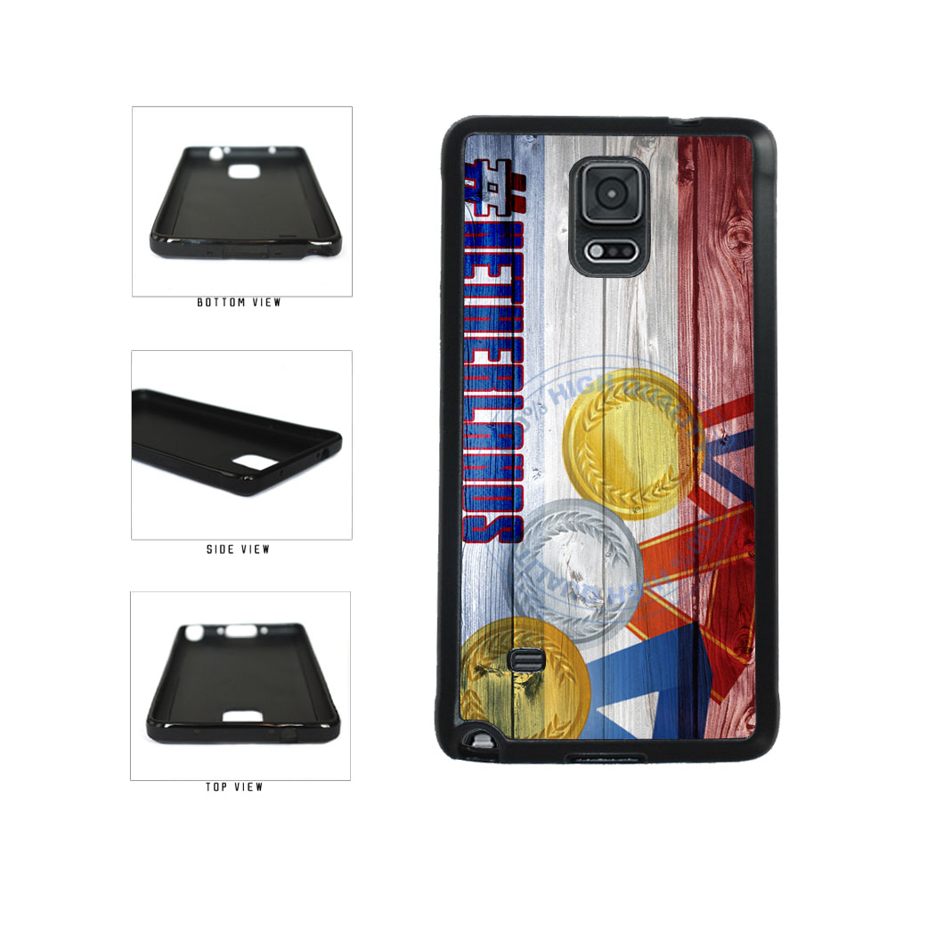 Sport Games Hashtag Team Netherlands #Netherlands TPU Rubber SILICONE Phone Case Back Cover For Samsung Galaxy Note IV 4 N910 includes BleuReign(TM) Cloth and Warranty Label