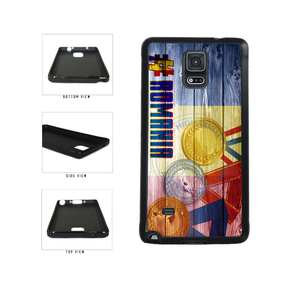 Sport Games Hashtag Team Romania #Romania TPU Rubber SILICONE Phone Case Back Cover For Samsung Galaxy Note IV 4 N910 includes BleuReign(TM) Cloth and Warranty Label
