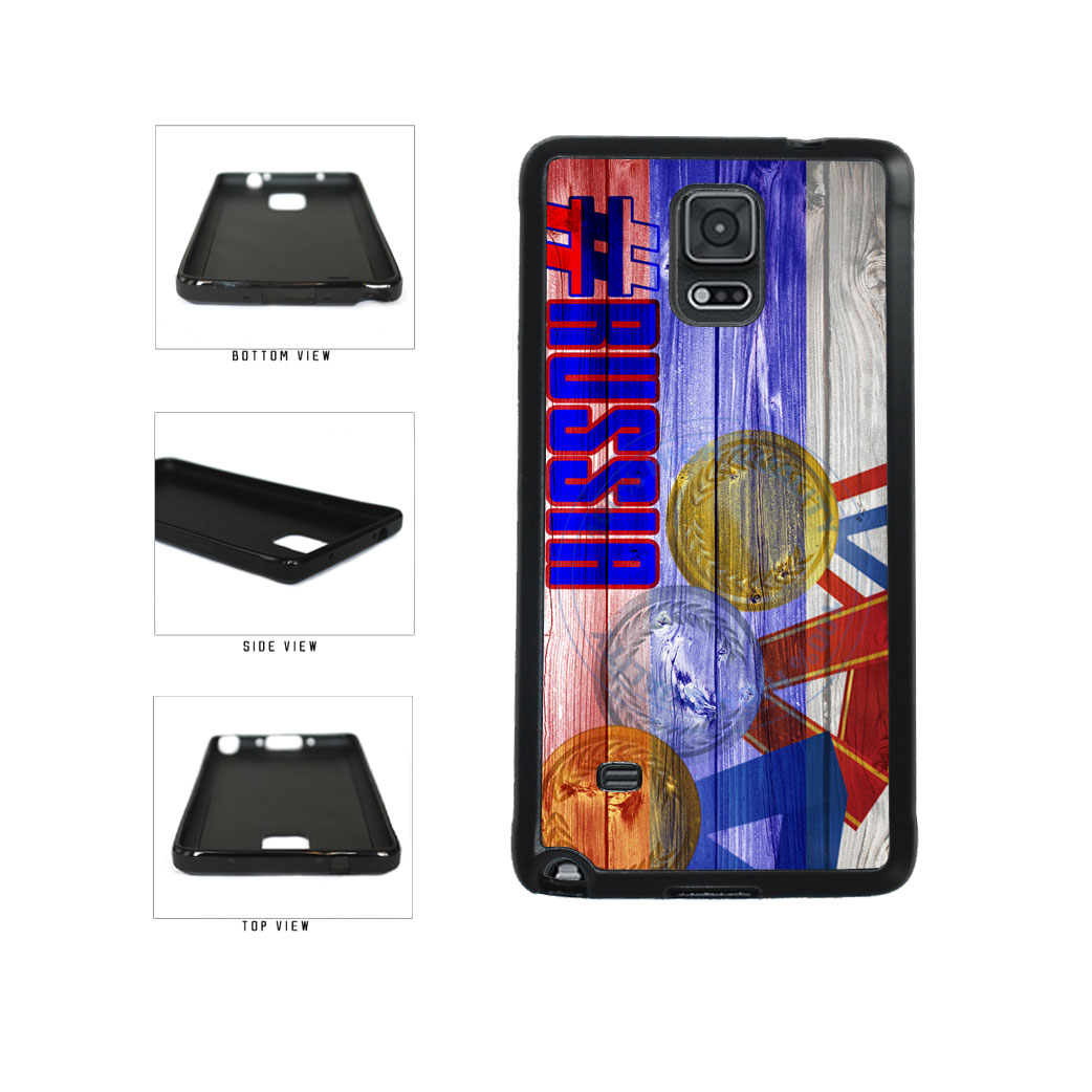 Sport Games Hashtag Team Russia #Russia TPU Rubber SILICONE Phone Case Back Cover For Samsung Galaxy Note IV 4 N910 includes BleuReign(TM) Cloth and Warranty Label