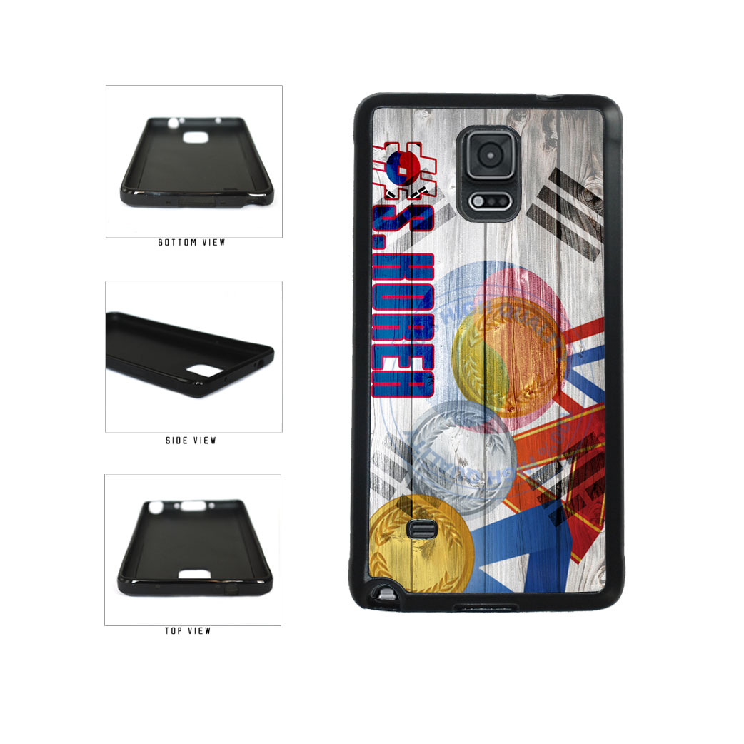 Sport Games Hashtag Team South Korea #SouthKorea TPU Rubber SILICONE Phone Case Back Cover For Samsung Galaxy Note IV 4 N910 includes BleuReign(TM) Cloth and Warranty Label