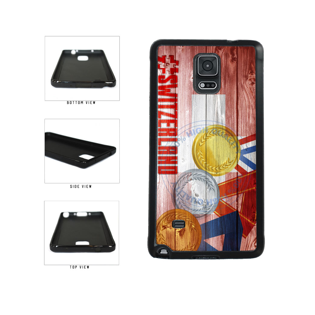 Sport Games Hashtag Team Switzerland #Switzerland TPU Rubber SILICONE Phone Case Back Cover For Samsung Galaxy Note IV 4 N910 includes BleuReign(TM) Cloth and Warranty Label