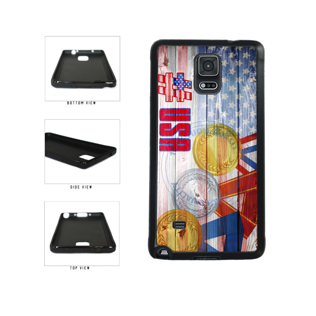 Sport Games Hashtag Team USA #USA TPU Rubber SILICONE Phone Case Back Cover For Samsung Galaxy Note IV 4 N910 includes BleuReign(TM) Cloth and Warranty Label