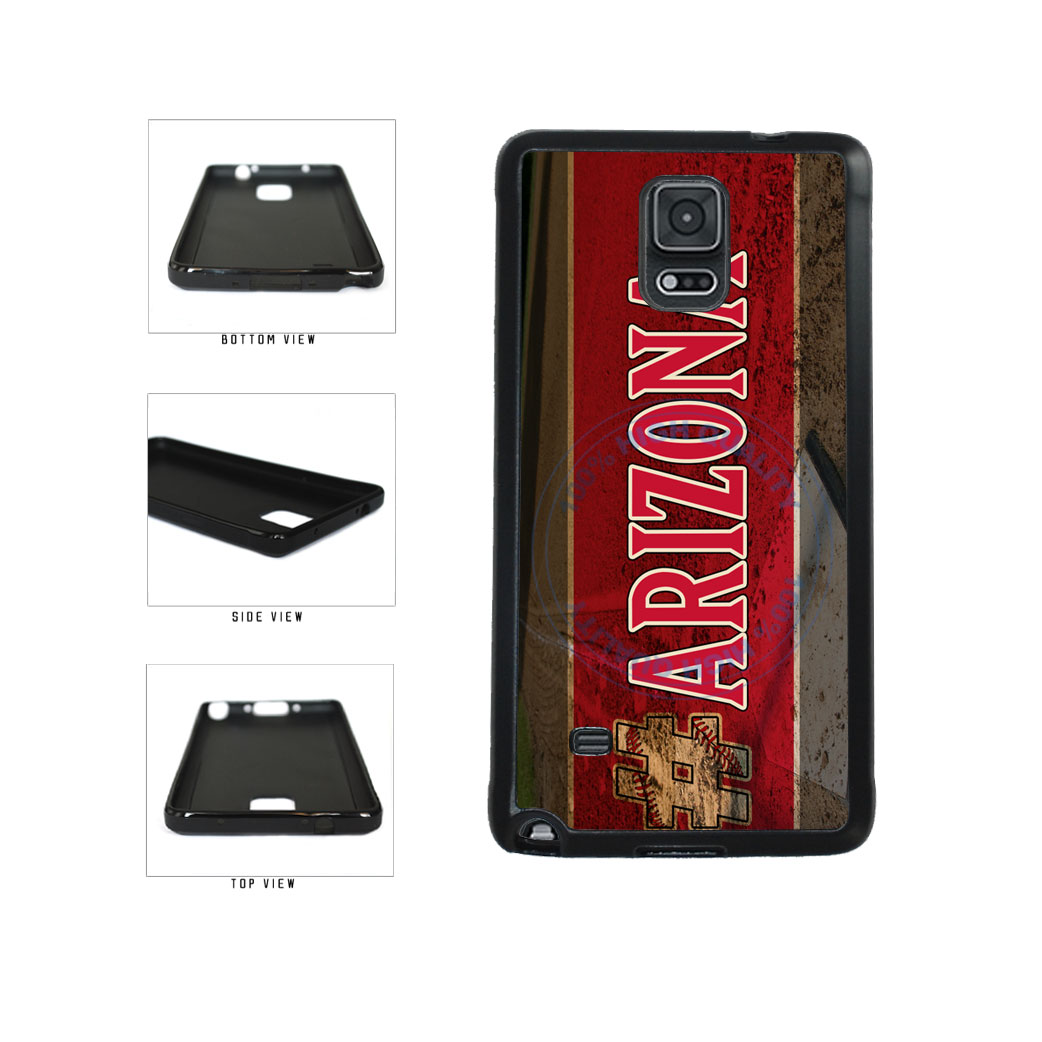 Hashtag Arizona #Arizona Baseball Team  TPU Rubber SILICONE Phone Case Back Cover For Samsung Galaxy Note IV 4 N910 includes BleuReign(TM) Cloth and Warranty Label
