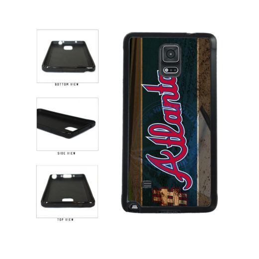 Hashtag Atlanta #Atlanta Baseball Team  TPU Rubber SILICONE Phone Case Back Cover For Samsung Galaxy Note IV 4 N910 includes BleuReign(TM) Cloth and Warranty Label