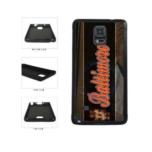 Hashtag Baltimore #Baltimore Baseball Team  TPU Rubber SILICONE Phone Case Back Cover For Samsung Galaxy Note IV 4 N910 includes BleuReign(TM) Cloth and Warranty Label