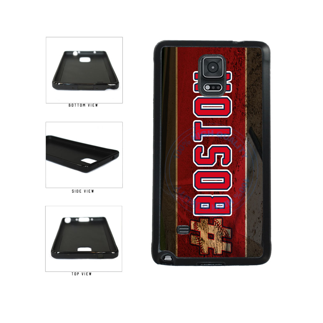 Hashtag Boston #Boston Baseball Team  TPU Rubber SILICONE Phone Case Back Cover For Samsung Galaxy Note IV 4 N910 includes BleuReign(TM) Cloth and Warranty Label
