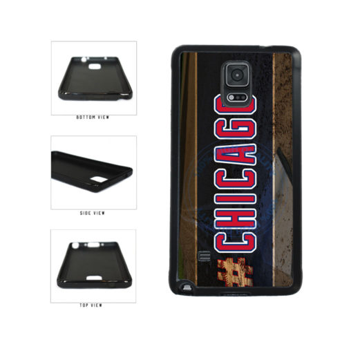 Hashtag Chicago #Chicago Blue and Red Baseball Team  TPU Rubber SILICONE Phone Case Back Cover For Samsung Galaxy Note IV 4 N910 includes BleuReign(TM) Cloth and Warranty Label
