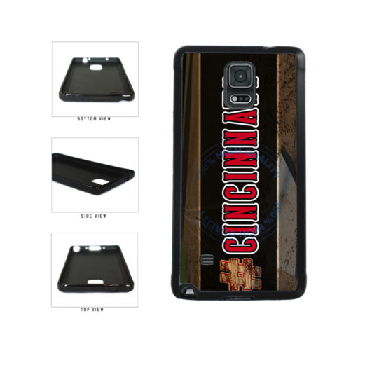 Hashtag Cincinnati #Cincinnati Baseball Team  TPU Rubber SILICONE Phone Case Back Cover For Samsung Galaxy Note IV 4 N910 includes BleuReign(TM) Cloth and Warranty Label