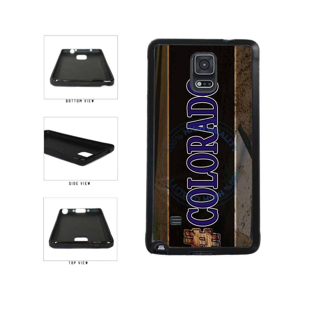 Hashtag Colorado #Colorado Baseball Team  TPU Rubber SILICONE Phone Case Back Cover For Samsung Galaxy Note IV 4 N910 includes BleuReign(TM) Cloth and Warranty Label