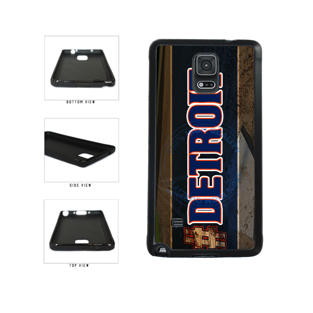 Hashtag Detroit #Detroit Baseball Team  TPU Rubber SILICONE Phone Case Back Cover For Samsung Galaxy Note IV 4 N910 includes BleuReign(TM) Cloth and Warranty Label