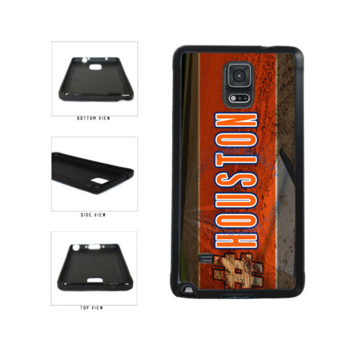 Hashtag Houston #Houston Baseball Team  TPU Rubber SILICONE Phone Case Back Cover For Samsung Galaxy Note IV 4 N910 includes BleuReign(TM) Cloth and Warranty Label