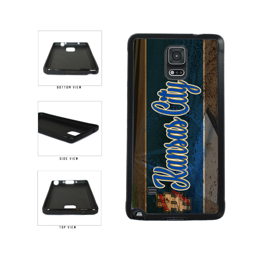 Hashtag Kansas City #KansasCity Baseball Team  TPU Rubber SILICONE Phone Case Back Cover For Samsung Galaxy Note IV 4 N910 includes BleuReign(TM) Cloth and Warranty Label