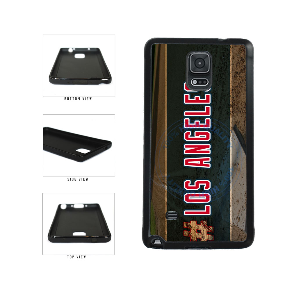 Hashtag Los Angeles #LosAngeles Anaheim Baseball Team TPU Rubber SILICONE Phone Case Back Cover For Samsung Galaxy Note IV 4 N910 includes BleuReign(TM) Cloth and Warranty Label