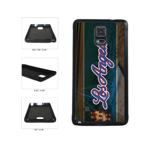 Hashtag Los Angeles #LosAngeles Blue Baseball Team  TPU Rubber SILICONE Phone Case Back Cover For Samsung Galaxy Note IV 4 N910 includes BleuReign(TM) Cloth and Warranty Label