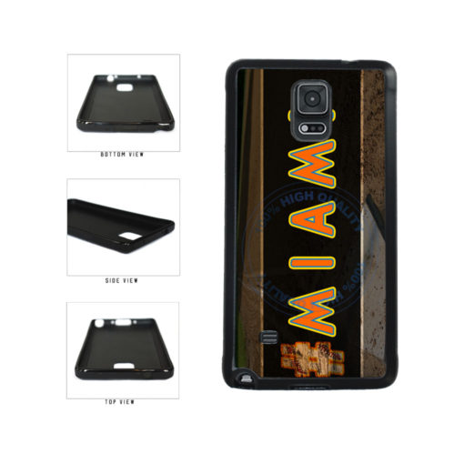 Hashtag Miami #Miami Baseball Team  TPU Rubber SILICONE Phone Case Back Cover For Samsung Galaxy Note IV 4 N910 includes BleuReign(TM) Cloth and Warranty Label