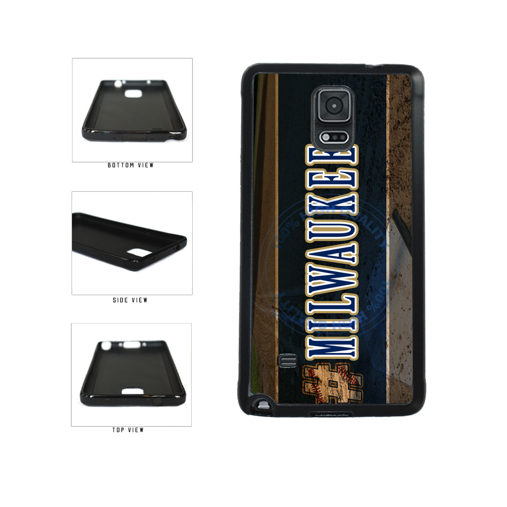 Hashtag Milwaukee #Milwaukee Baseball Team  TPU Rubber SILICONE Phone Case Back Cover For Samsung Galaxy Note IV 4 N910 includes BleuReign(TM) Cloth and Warranty Label