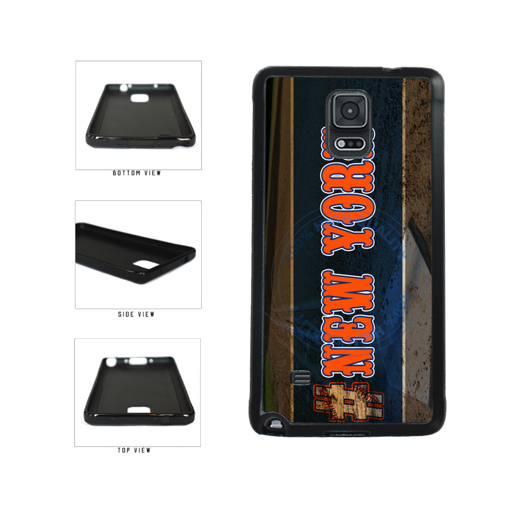Hashtag New York #NewYork Orange Baseball Team  TPU Rubber SILICONE Phone Case Back Cover For Samsung Galaxy Note IV 4 N910 includes BleuReign(TM) Cloth and Warranty Label
