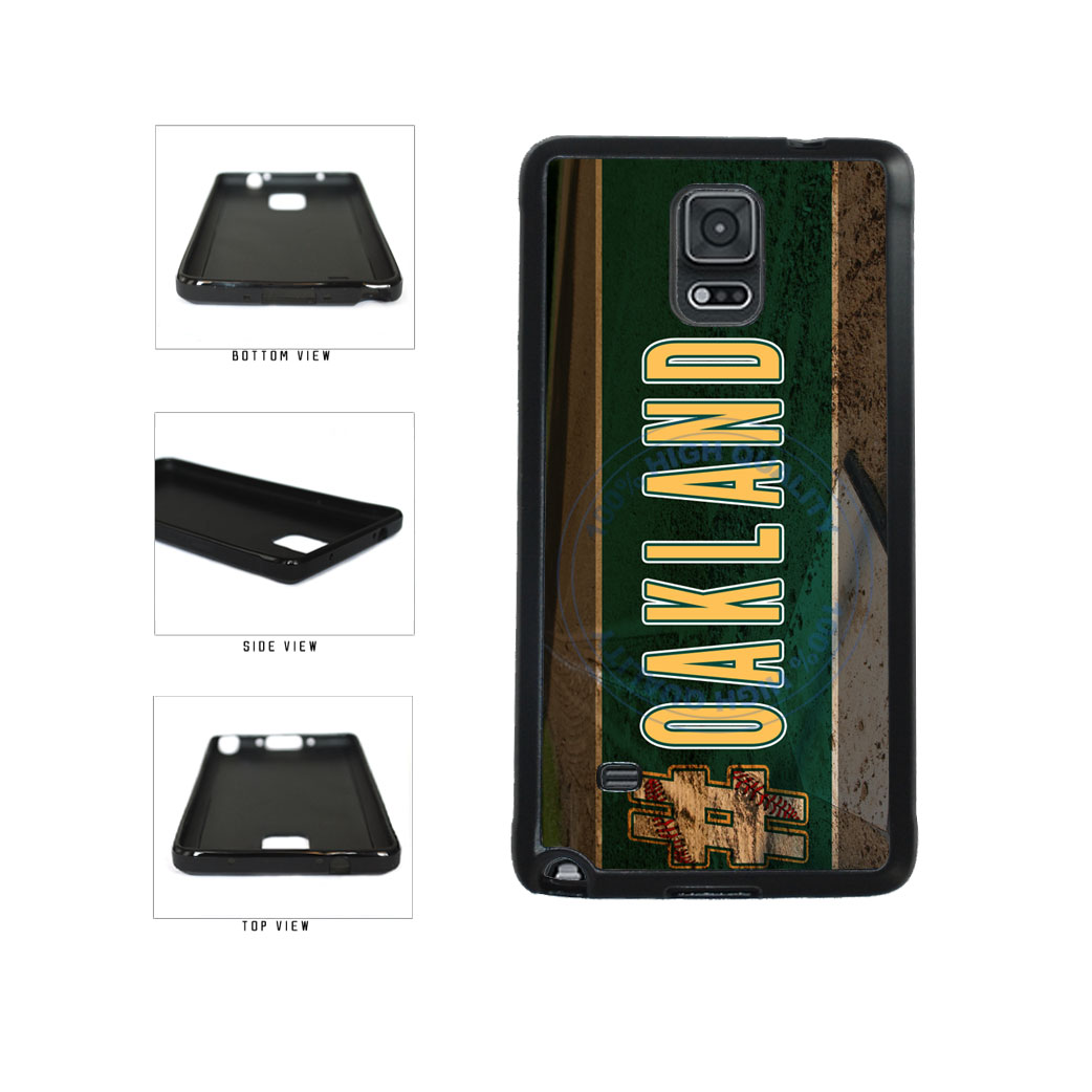 Hashtag Oakland #Oakland Baseball Team  TPU Rubber SILICONE Phone Case Back Cover For Samsung Galaxy Note IV 4 N910 includes BleuReign(TM) Cloth and Warranty Label