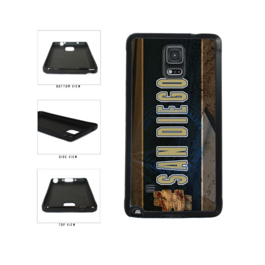 Hashtag San Diego #SanDiego Baseball Team  TPU Rubber SILICONE Phone Case Back Cover For Samsung Galaxy Note IV 4 N910 includes BleuReign(TM) Cloth and Warranty Label