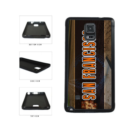 Hashtag San Francisco #SanFrancisco Baseball Team  TPU Rubber SILICONE Phone Case Back Cover For Samsung Galaxy Note IV 4 N910 includes BleuReign(TM) Cloth and Warranty Label