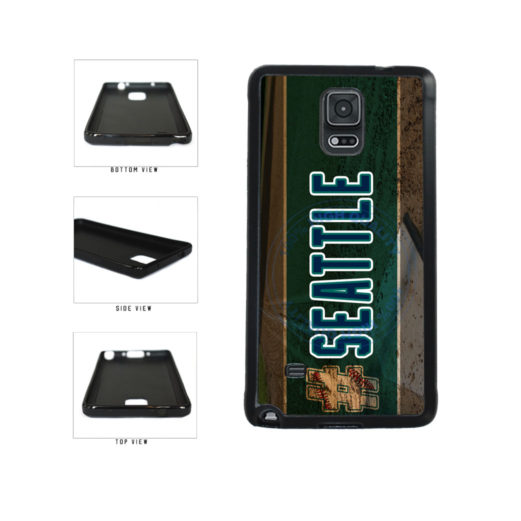 Hashtag Seattle #Seattle Baseball Team  TPU Rubber SILICONE Phone Case Back Cover For Samsung Galaxy Note IV 4 N910 includes BleuReign(TM) Cloth and Warranty Label