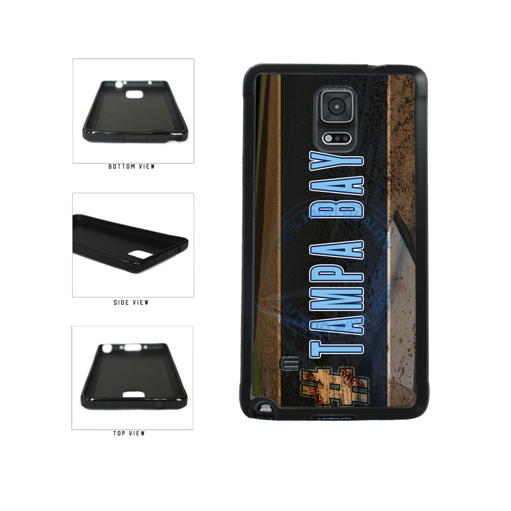 Hashtag Tampa Bay #TampaBay Baseball Team  TPU Rubber SILICONE Phone Case Back Cover For Samsung Galaxy Note IV 4 N910 includes BleuReign(TM) Cloth and Warranty Label