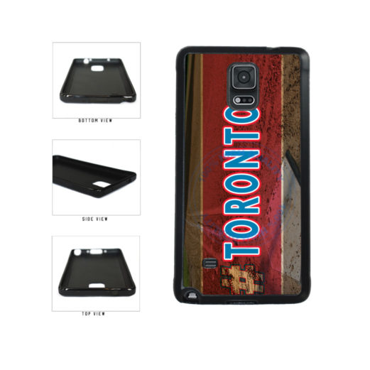 Hashtag Toronto #Toronot Baseball Team  TPU Rubber SILICONE Phone Case Back Cover For Samsung Galaxy Note IV 4 N910 includes BleuReign(TM) Cloth and Warranty Label